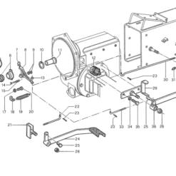 Meccanismo frizione d.160 Antonio Carraro per serie 15/55 - 16 - sp3000