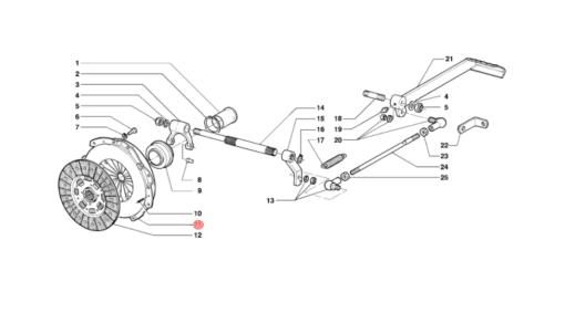 Meccanismo frizione d.200 Antonio Carraro per serie 21/23