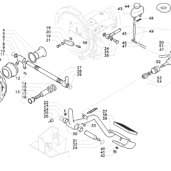 Meccanismo frizione d. 280