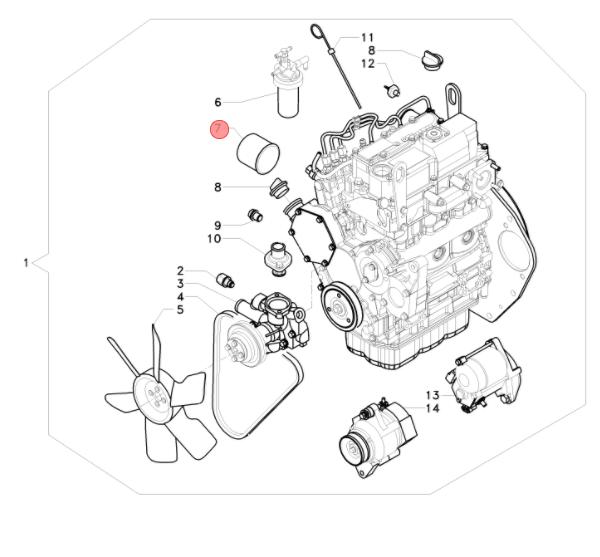 Filtro olio motore wy119305 35151 antonio carraro for Cabina nel wyoming
