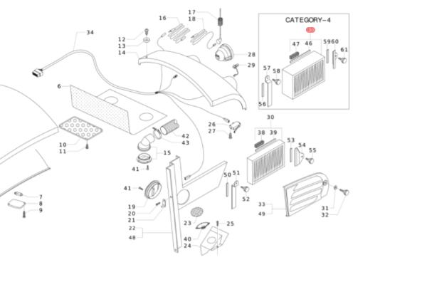 Filtro aria cabina categoria 4 45325293 antonio carraro for Filtro per cabina subaru impreza