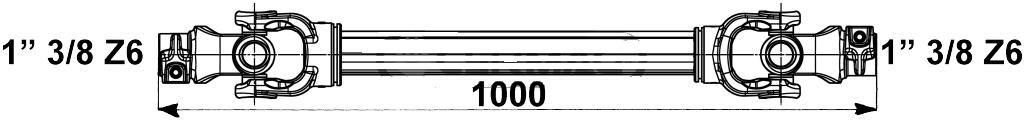 albero cardanico 1x1000