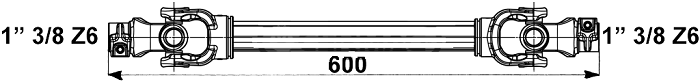 Albero cardanico Eurocardan 1 x 600