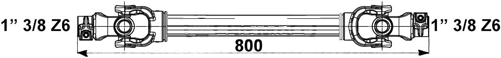albero cardanico 1x800