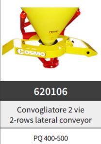 Convogliatore 2 vie perPQ 400-500