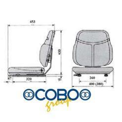 Culla con guide di scorrimento rivestito in skay COBO 62855