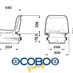 sedile con soffietto pneumatico 61849